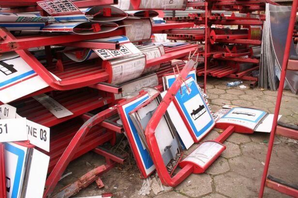 Magazyn zniszczonych przystanków ZTM