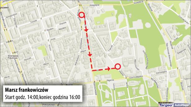 Trasa marszu frankowiczów targeo.pl