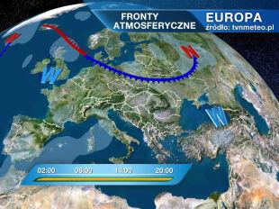 Europa - fronty atmosferyczne