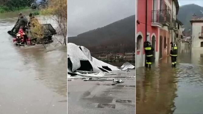 Zalane domy, ludzie uwięzieni w autach. Gwałtowna pogoda we Włoszech