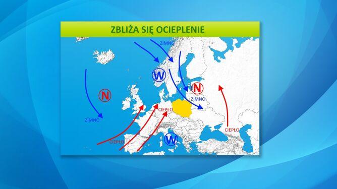 Południowo-zachodnia cyrkulacja przyniesie ciepło